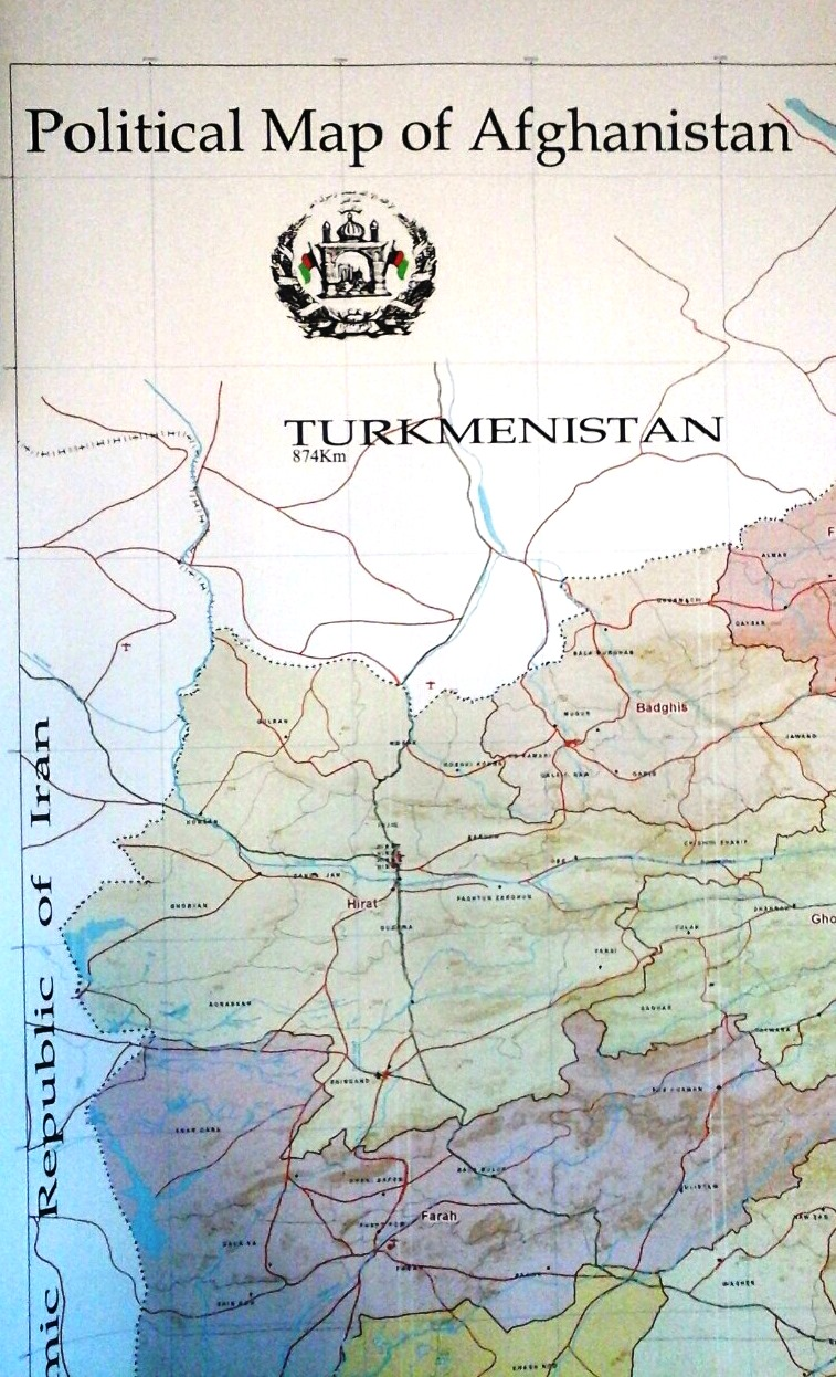 Political Map Of Afghanistan 105 Cm 150 Cm Shah M Book Co