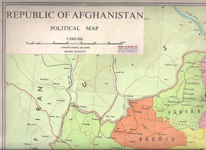 Republic Of Afghanistan Political Map 1 2000 000 55 Cm 76 Cm