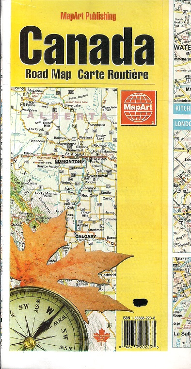 Map69.Canada Road Map Carte Routiere Folded Map 69 Cm 99 Cm