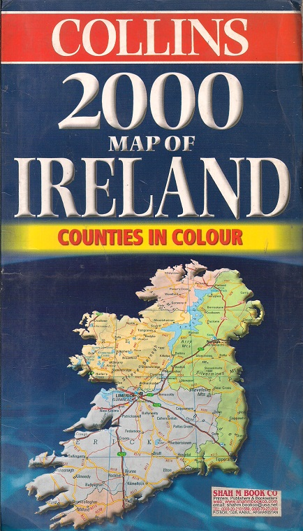 Map Of Ireland Book.Collins 2000 Map Of Ireland Counties In Colour Folded Map 67 Cm X 99 Cm